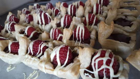 Chocolate Raspberry Puffs